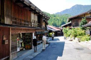 南木曽町 妻籠宿の風景