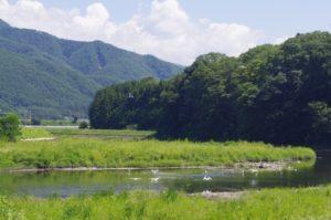 辰野町の風景