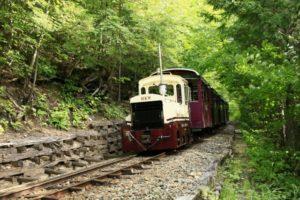 上松町を走る赤沢森林鉄道
