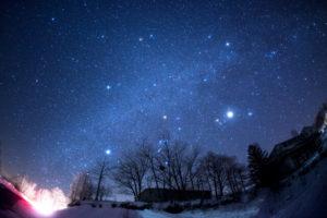 阿智村 冬の星空