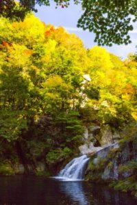 三朝町 小鹿渓谷の風景
