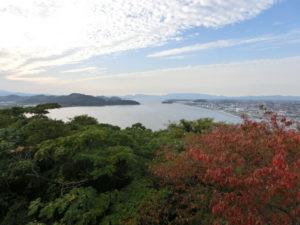 米子城跡からの風景
