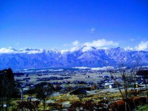 松川村の風景