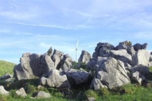 四国カルストの石灰岩