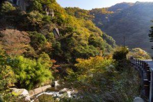 日南町 石霞渓の風景