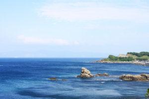 今別町から望む津軽海峡