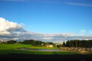 盛岡市の田園風景