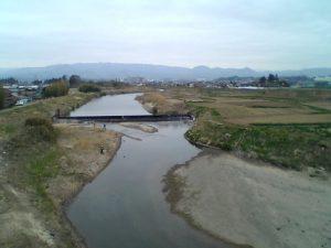 相馬市内を流れる宇多川