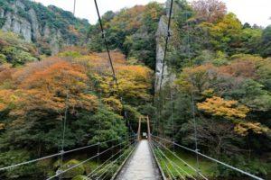 出雲市 立久恵峡の吊橋