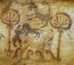 竹原古墳の壁画