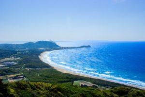 糸島市の海岸線