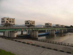 平成大堰の風景