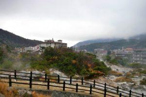 雲仙温泉の風景