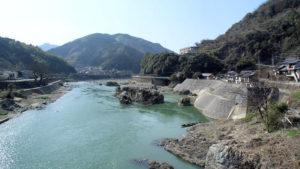 球磨川の流れ