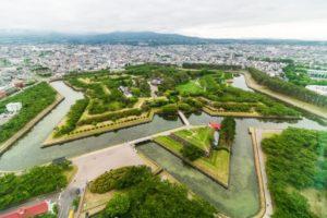 五稜郭と函館市の風景