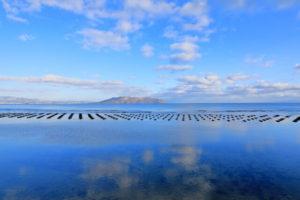北斗市から望む津軽海峡