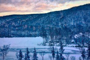 赤井川村の雪景色