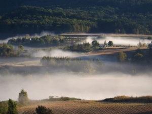 芦別市 朝霧の風景