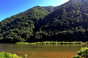 戸沢村 最上川の流れ