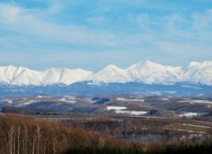 大雪山の山々