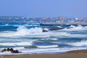 留萌市 海岸の風景