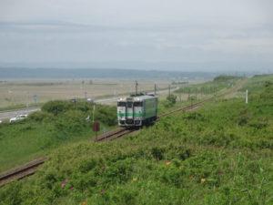 小清水原生花園と電車