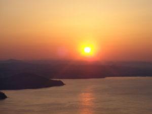 サロマ湖の夕陽